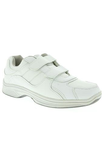 transat chaussures homme de couleur blanc