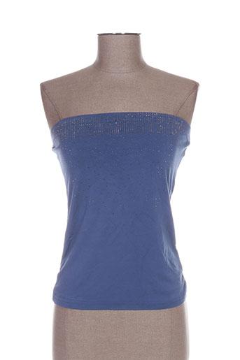 conos chemises femme de couleur bleu