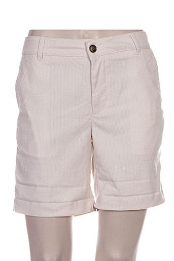 Short beige REIKO pour femme