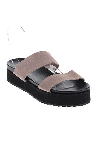 ichi chaussures femme de couleur beige