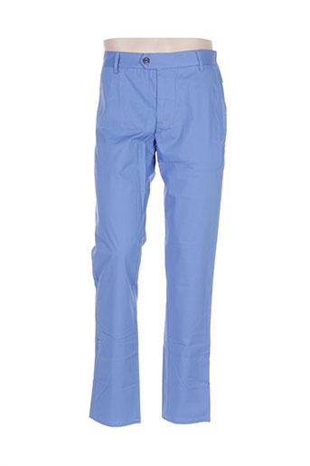 new man pantalons homme de couleur bleu