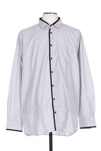 optimal chemises homme de couleur gris