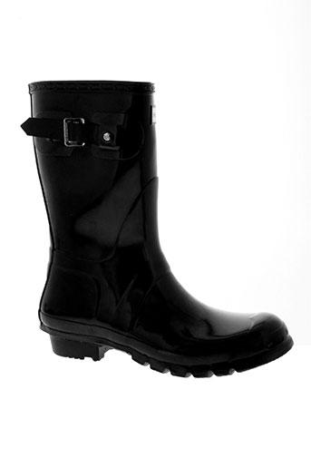 hunter chaussures femme de couleur noir