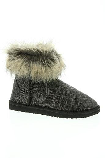 initiale paris chaussures femme de couleur gris