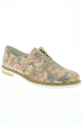 rieker chaussures femme de couleur beige