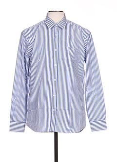 Chemise manches longues bleu FULL BLUE pour homme