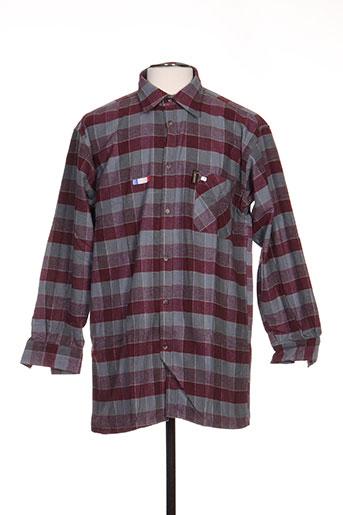 laboureur chemises homme de couleur gris