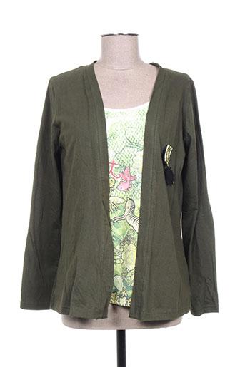 miss sidecar t-shirts femme de couleur vert
