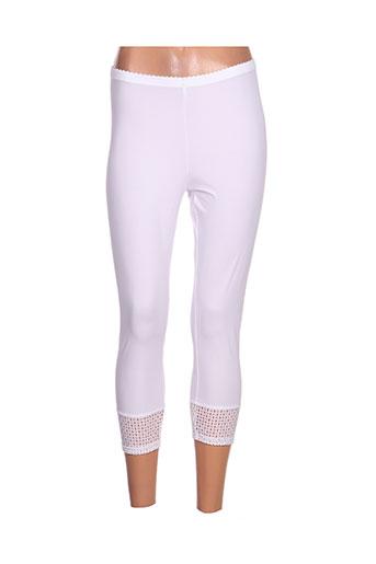 mc planet pantalons femme de couleur blanc