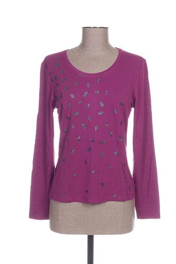 pauporté t-shirts femme de couleur violet