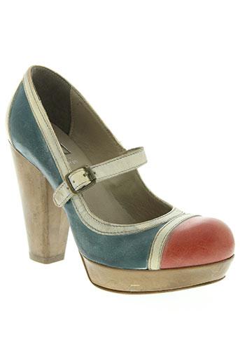 moma chaussures femme de couleur bleu