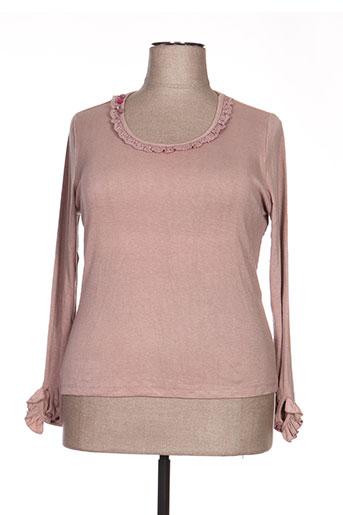 T-shirt manches longues rose ALICE ET BARNABE pour femme