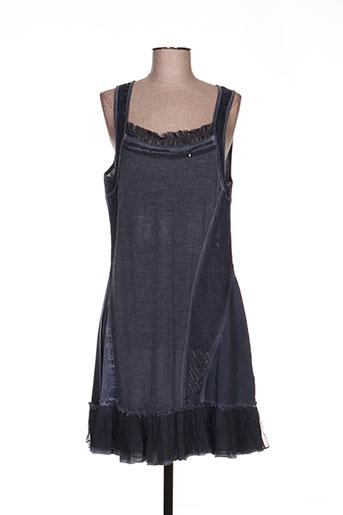 fred sabatier robes femme de couleur bleu
