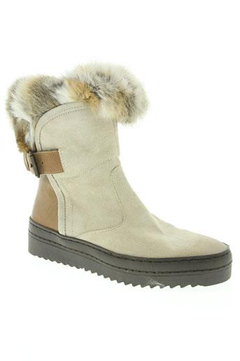 manas design chaussures femme de couleur beige