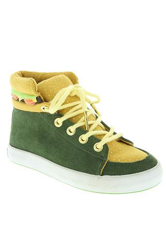 milk on the rocks chaussures fille de couleur vert
