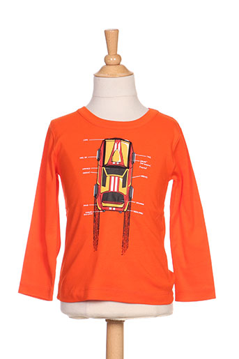 milk on the rocks t-shirts garçon de couleur orange