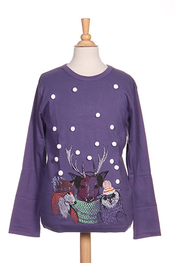 milk on the rocks t-shirts fille de couleur violet