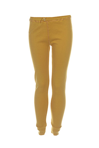 milk on the rocks pantalons fille de couleur jaune