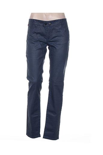 chipie pantalons femme de couleur bleu