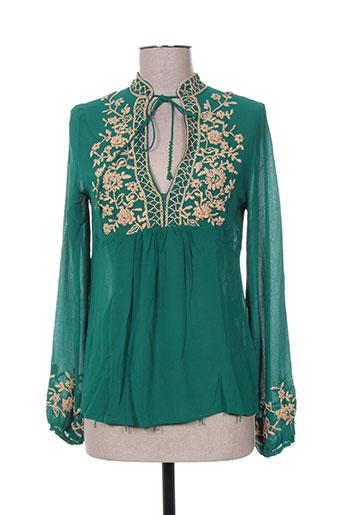 mine de rien chemises femme de couleur vert
