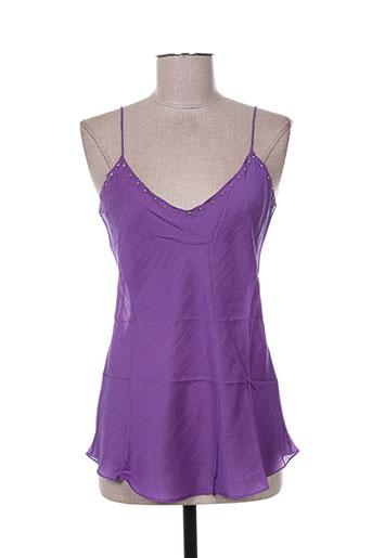 mine de rien chemises femme de couleur violet