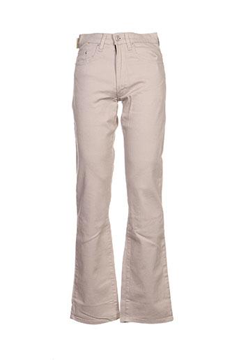 Pantalon casual beige EFFECTIF pour homme