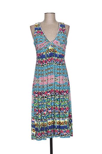 fuegolita robes femme de couleur bleu