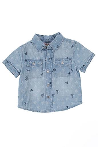 boboli chemises garçon de couleur bleu