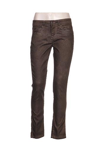 et compagnie pantalons femme de couleur marron