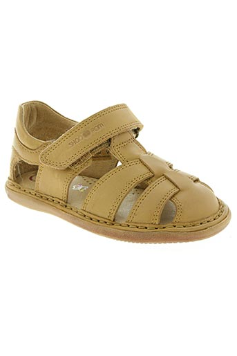 shoo pom chaussures garçon de couleur beige