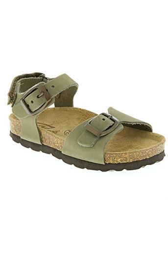reqins chaussures enfant de couleur vert