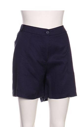 surkana shorts / bermudas femme de couleur bleu