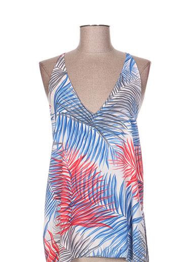 vintage love chemises femme de couleur bleu
