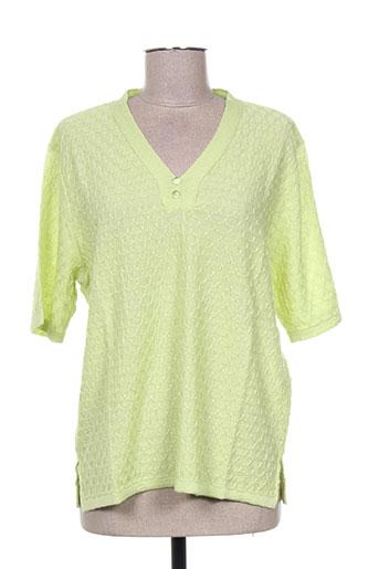 bonneterie creusoise pulls femme de couleur vert