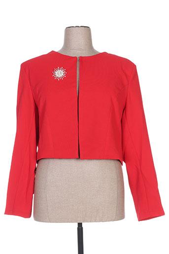 h-3 vestes femme de couleur rouge