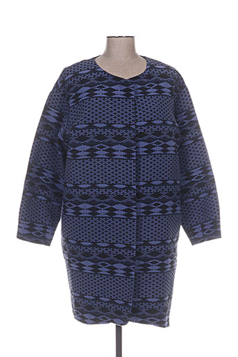 l'émile vestes femme de couleur bleu