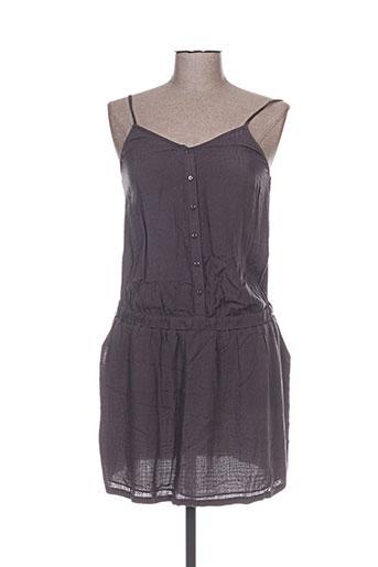 Robe mi-longue gris COLOR BLOCK pour femme