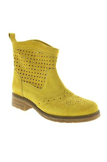 Bottines/Boots jaune BELKAR pour femme