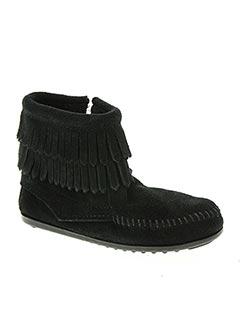 Bottines/Boots noir MINNETONKA pour fille