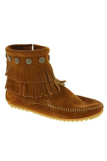 minnetonka chaussures femme de couleur marron