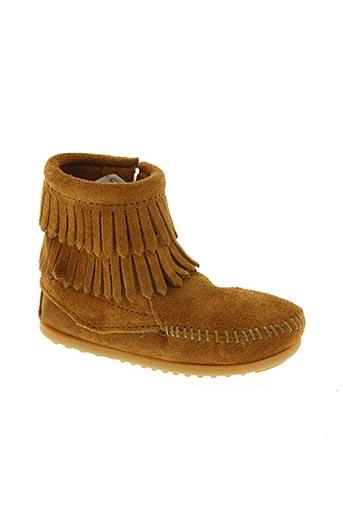 minnetonka chaussures fille de couleur marron