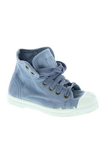 natural world chaussures enfant de couleur bleu