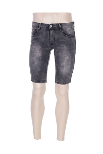 leeyo jeans shorts / bermudas homme de couleur gris