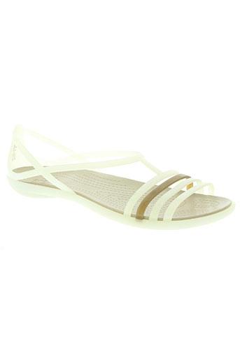 crocs chaussures femme de couleur beige