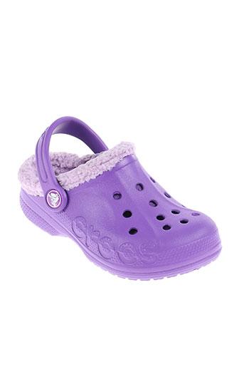crocs chaussures enfant de couleur violet