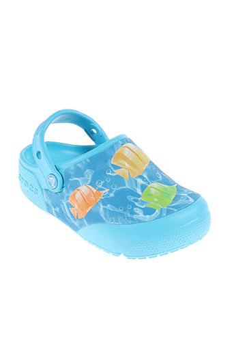 crocs chaussures enfant de couleur bleu