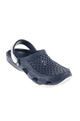 crocs chaussures homme de couleur bleu