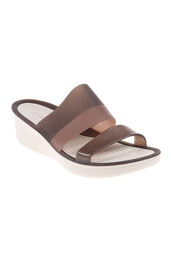 crocs chaussures femme de couleur marron