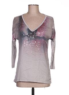 T-shirt manches longues gris EXPRESSO pour femme