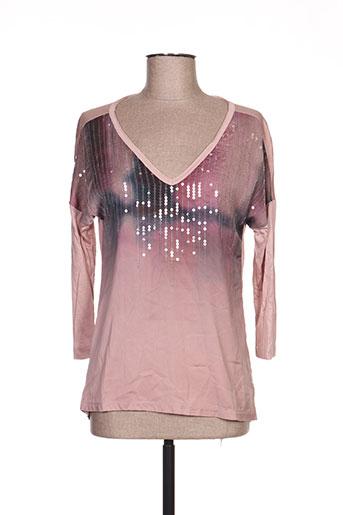 T-shirt manches longues rose EXPRESSO pour femme
